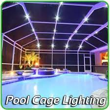pool cage lighting. Private Screens And Pool Enclosure Lighting Tampa Bay, Ocala , Orlando West Palm Cage
