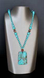 turquoise and brown agate necklace