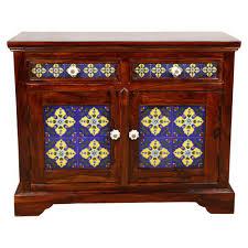 sheesham wood double door wooden sideboard cabinet