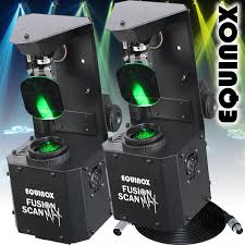 2 x fusion scan max 30w led dmx dj lighting effect 0 100 dimming