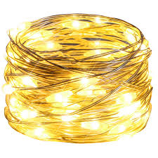 Wheat Light Battery Replacement Starker Outdoor String Light Battery Operated 16ft 50 Ledstring Lights 8 Modes Waterproof Silver Christmas Lights With Timer For Xmax Decoration Warm