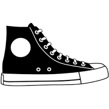 converse shoes clipart. pin gym-shoes clipart converse shoe #1 shoes e