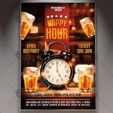 Happy Hour Flyer Best Happy Hour Flyer Psd Template