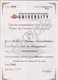 Eiilm University Degree Certificate Sample 2018 2019 Student Forum