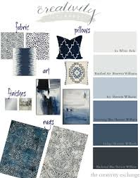 Layering Indigo, Black and Gray: Moody Monday Layering shades of black,  indigo and warm gray paint colors and accessories. The Creativity Exchange