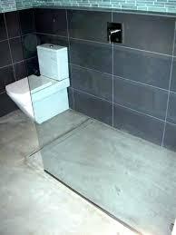 concrete floor bathroom cement floor bathroom concrete floor bathroom modern open concept bathroom featuring a concrete