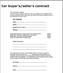 Used Car Sale Agreement Template Used Car Sales Contract Tagesspartipp Com