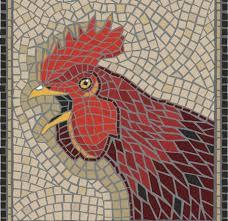 mosaic tile designs. Mosaic Rooster Design Tile Designs