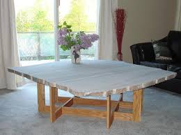 W 100 cm d 100 cm h 29 cm or w 100 cm d 100 cm h. Red Oak Mondriaan Frame Coffee Table With Rough Granite Top Finewoodworking