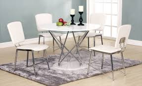uplands round white high gloss table 4 chairs