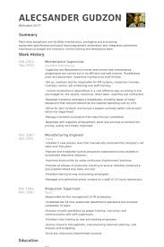 Maintenance Supervisor Resume Samples VisualCV Resume Samples Fascinating Maintenance Supervisor Resume