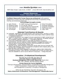 Modern Resume Format Resume Format For Hr Trainee New Pensation And Benefits Human 84