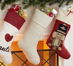 Linen Channel Quilted Stocking | Pottery Barn & Linen Channel Quilted Stocking Adamdwight.com