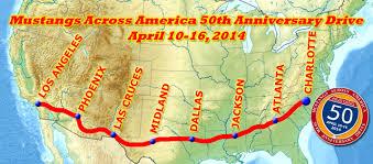 mustangs across america announces 50th