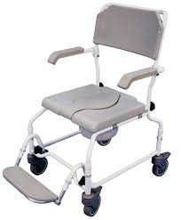 adjustable height chair. The Bewl Attendant Adjustable Height Shower Chair (Single Foot Plate)