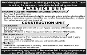 Civil Engineer, Site Supervisors Jobs In Karachi
