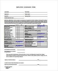 Employee Clearance Form Beauteous 44 Sample Employee Clearance Forms Word PDF Sample Templates