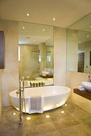 lighting ideas for bathrooms. Bathroom : Glamorous Design For Your Luxuries Bathing - Small Ideas With Bowl Bathtub And Cool Floor Lights Lighting Bathrooms T
