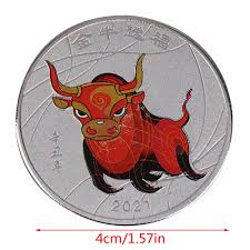 One animal represents each of these twelve it is believed that those born under a particular animal has the characteristics of this animal. Vova 2021 Year Ox Gold Commemorative Coin Chinese Souvenir Challenge Art Craft Gift Y