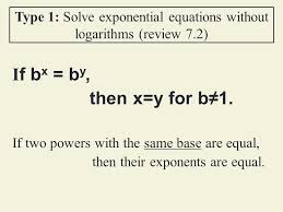 solve exponential equations ppt