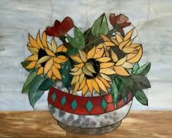 Pin by Marsha Curran on Stained Glass | Painting, Planter pots ...