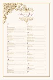 Paisley Power Pompous Peacock Wedding Seating Chart