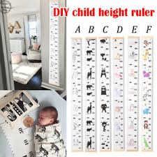 Details About Children Canvas Growth Chart Ruler Baby Kids Height Measure Wall Hanging Decal