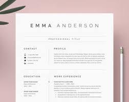 Modern Resume Etsy Resume Etsy