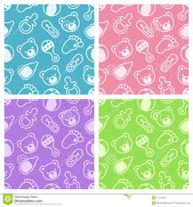 Baby Patterns Magnificent Baby Girl Background With Dress Stock Vector Illustration Of Dress