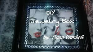 diy jewelry box using dollar tree picture frames