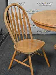 Oak Chairs For Kitchen Table Oak Kitchen Table W 4 Chairs Craigs Mart