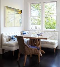 breakfast-nook-seating-Kitchen-Traditional-with-banquette-blue-accessories- breakfast | beeyoutifullife.com