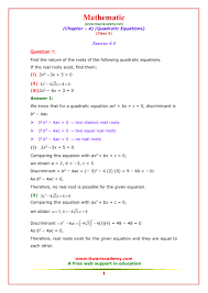ncert solutions for class 10 maths chapter 4 exercise 4 4 exercise 4 1