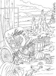 Country Scenes Coloring Book Coloring Page 2 Example