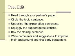 parenthetical citations english ii academic research writing peer edit through your partner s paper circle the topic sentence