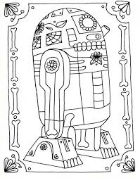 Dia De Los Muertos Star Wars Zeichnung Von R2d2 Cris Cross