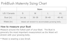Maternity Pants Size Chart Size Chart Pink Blush Maternity Maternity Skirt