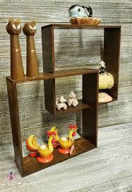 vintage curio wall shelf mid century