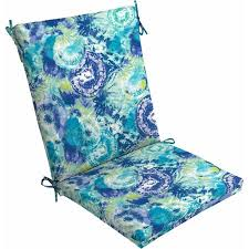 Mainstays Outdoor Dining Chair Cushion Blue Tie Dye Walmart