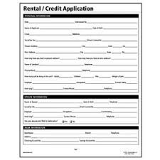 Credit Application For Rental Socrates Rental Credit Application Real Estate Forms Somlf305