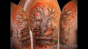 эскизы и фото тату дерево