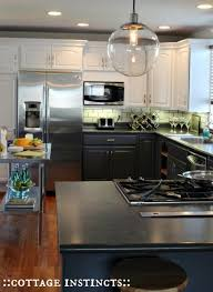 black and white two tone cabinets