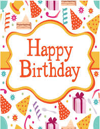 Birthday Card Template Happy Royalty Free Stock Image