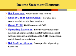 Components Of Income Statement Mesmerizing Accounting Role Of Accounting In Business Ppt Download