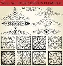 Wrought Iron Designs Ferforje Stock Vectors Royalty Free Ferforje