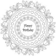 Print as many as you want and come back regularly to get even more. Anti Stress Coloring Pages Happy Birthday