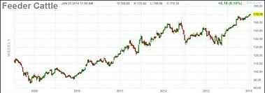 Feeder Cattle Index Chart Chart Of The Week All Time Highs For Cattle Futures Rcm