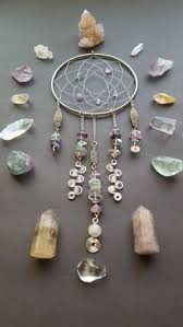 Dream Catcher With Crystals Sueño De Cristal Catcher Del Colgante De Pared Por TigerEmporium 51