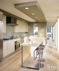 Love the wall color being brought onto the lowered ceiling over the island.  kitchen in. Modern Ceiling DesignKitchen ...