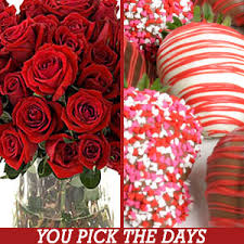 delivered valentine s day chocolate dipped strawberries and roses